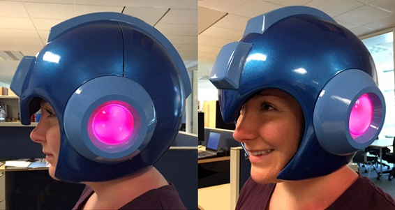 limited mega man helmet