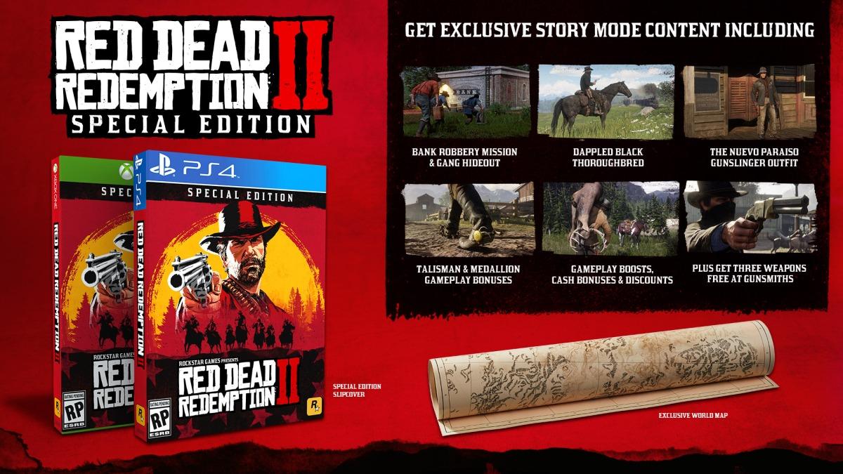 Red Dead Redemption 2 - specialversioner och förbokningsbonusar utannonserade
