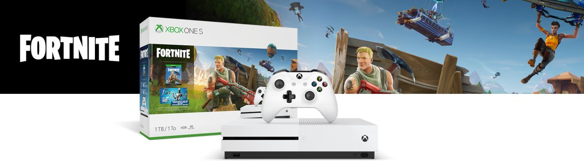 Microsoft utannonserar ny Xbox One S-bundle med Fortnite